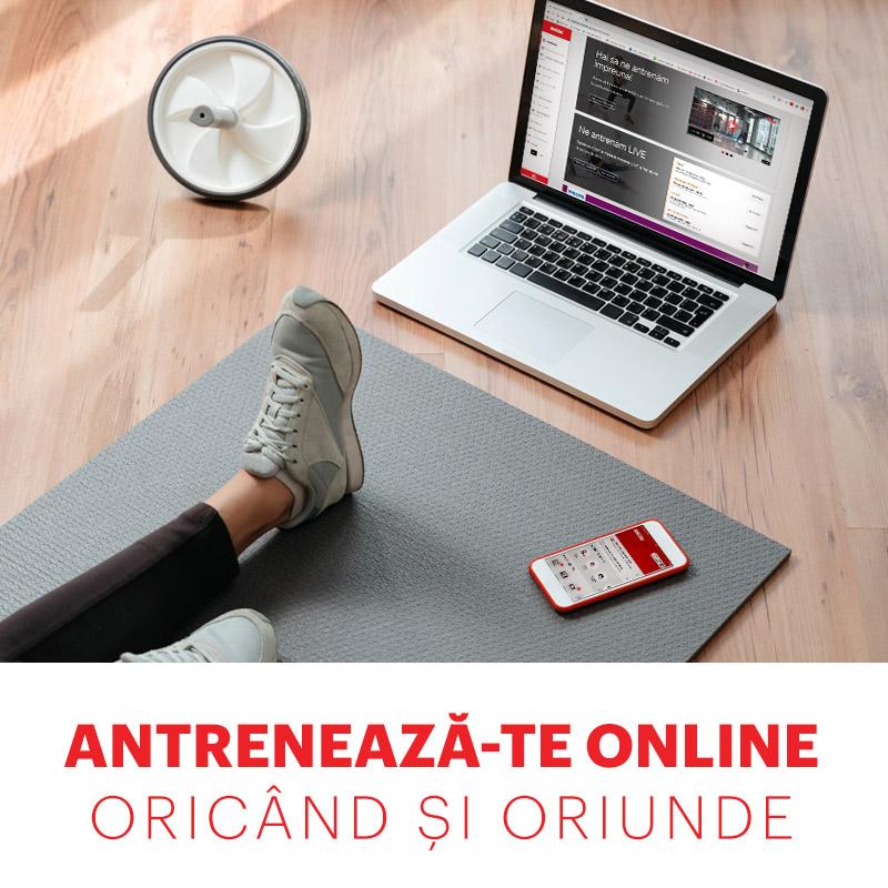 Antrenează-te online, oricând și de oriunde!