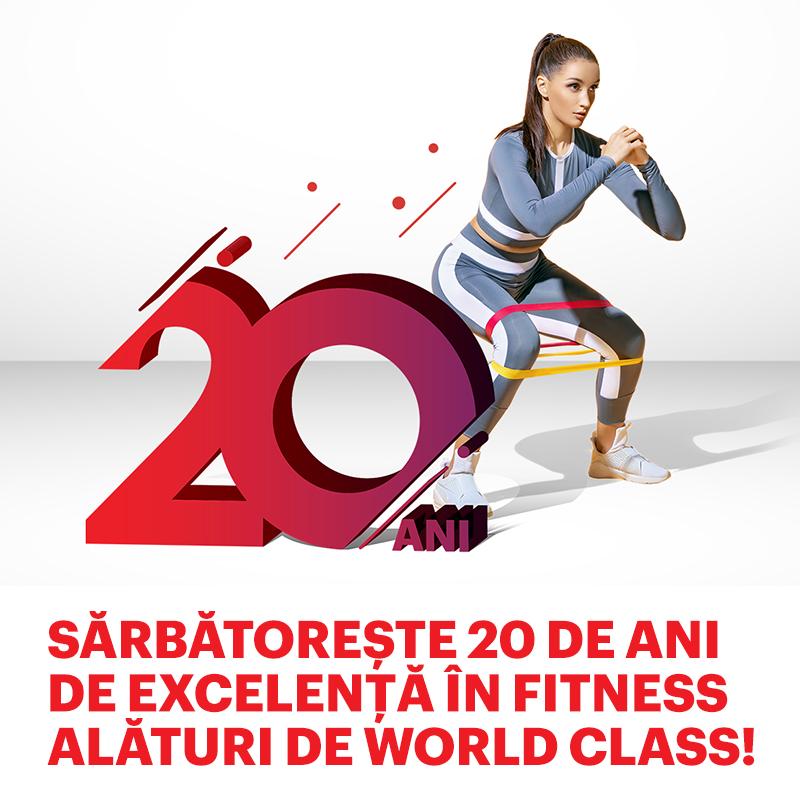 Sărbătorim 20 de ani de World Class România, 20 ani dedicați unui stil de viață sănătos!