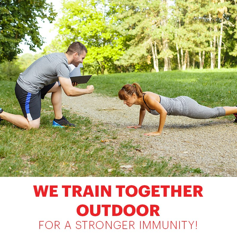 We train together outdoor for a stronger immunity!